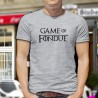 Men's Funny Fashion T-Shirt - Game of Fondue, Ash Heater