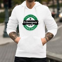 Kapuzen-Sweat - Fribourgeois, Best Man of the World