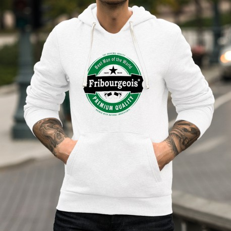 Mode Kapuzen-Sweatshirt - Fribourgeois, Best Man of the World