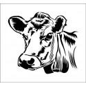 Sticker découpé - Tête de vache