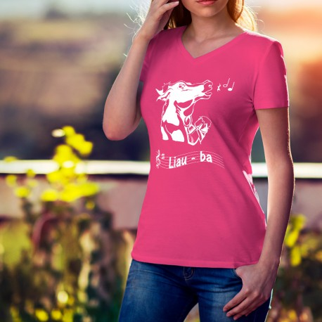 T-shirt coton mode dame - Liauba, 57-Fuchsia