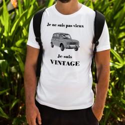 T-Shirt humoristique mode homme - Vintage Renault 4L, White