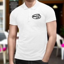 Men's Funny fashion Polo shirt - Bündner inside