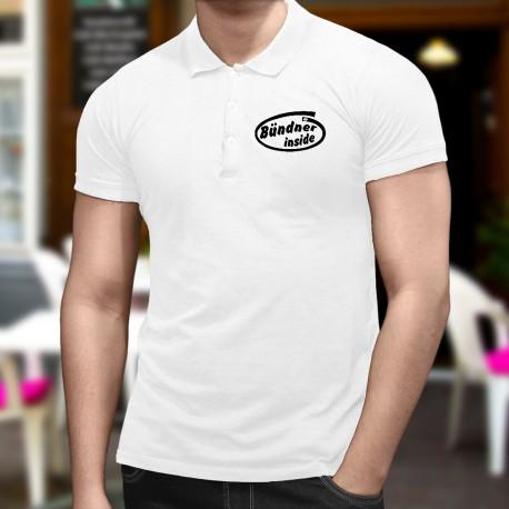 Men's Funny fashion Polo shirt - Bündner inside