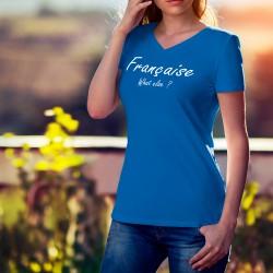 Donna cotone T-Shirt - Française, What else ?, 51-Royal