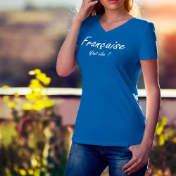 Baumwolle T-Shirt - Française, What else ?, 51-Royal