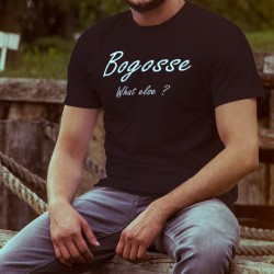 Men's Fashion cotton T-Shirt - Bogosse, What else, 36-Black