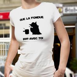 Donna moda T-shirt - Que la Fondue soit avec Toi