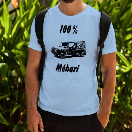 T-Shirt humoristique mode homme - 100 pour cent Méhari, Blizzard Blue