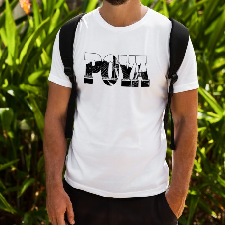 Men's fashion T-shirt - Poya Bridge, crossing of the Sarine in Fribourg, the longest cable-stayed bridge in Switzerland