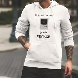Sweat bianco a cappuccio - Vintage Macintosh