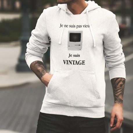 Vintage Apple Macintosh 128k ★ Je ne suis pas vieux, je suis vintage ★ Pull humoristique blanc à capuche homme