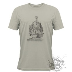 Men's T-shirt - Steam locomotive