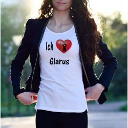 T-Shirt mode femme - Ich liebe Glarus