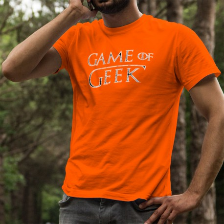 Herren Mode Baumwolle T-Shirt - Game of Geek, 44-Orange