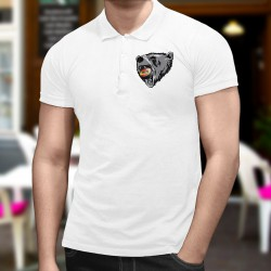 Polo shirt mode homme - Ours et puck de hockey bernois