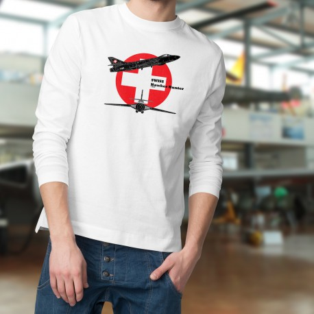 Sweat mode homme - Avion de combat - Swiss Hawker Hunter, White