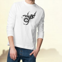 Men's Tribal Sweatshirt - Dragon Universe, White