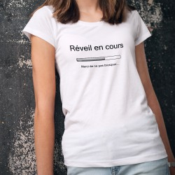 Damenmode T-shirt - Réveil en cours