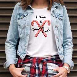 Women's funny fashionT-Shirt - I am a Candy Girl