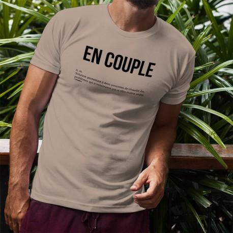 T-Shirt humoristique mode homme - EN COUPLE, November White