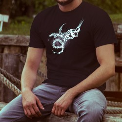 T-shirt coton mode homme - Dragon Universe, 36-Noir