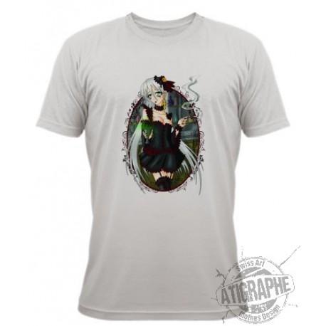 "T-Shirt ""Absinthe with Faust CR"" de Kami Kanagai, November White"