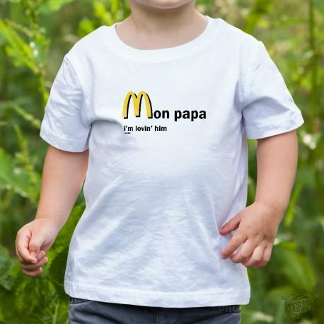 T-shirt enfant - Mon papa, I'm lovin' him, White
