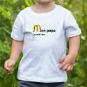 T-shirt enfant - Mon papa, I'm lovin' him
