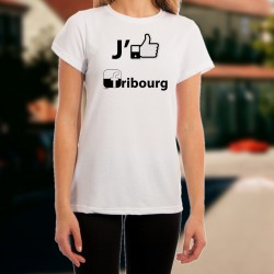 T-shirt mode dame - J'aime Fribourg
