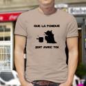 Que la Fondue soit avec Toi ★ Yoda ★ T-Shirt homme