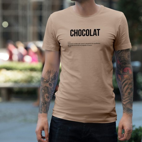 T-Shirt humoristique mode homme - CHOCOLAT, November White