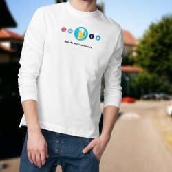 Men's Funny Sweatshirt - Beer, the Best Social Network, White