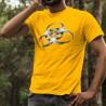 T-shirt coton mode homme - BioHazard, 34-Tournesol