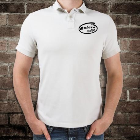 Polo shirt humoristique mode homme - Motard inside (Motard à l'intérieur du polo)