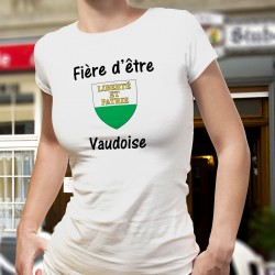 Donna slim T-shirt - Fière d'être Vaudoise