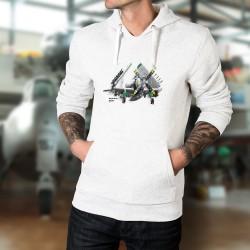 Felpa bianco a cappuccio - aereo da caccia - Douglas AD-4N Skyraider