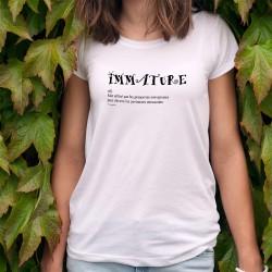 Women's slinky funny T-Shirt - Immature