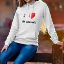 Kapuzen-Sweatshirt - J'aime UN valaisan