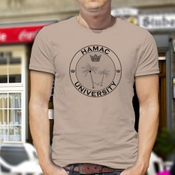 Uomo moda umoristica T-Shirt - HAMAC University, November White