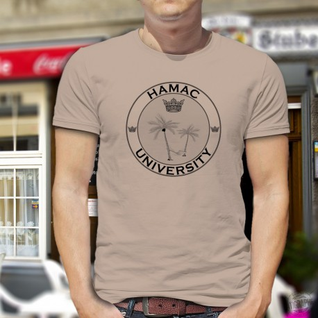 Men's Funny fashion T-Shirt - HAMAC University, November White