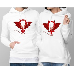 DUOPACK Hoodie - Devil Man and Woman - evil symbol of masculine and feminine