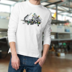 Pull-over mode homme - Avion de légende - Douglas AD-4N Skyraider, White
