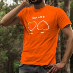 T-shirt coton mode homme - True Love, 44-Orange