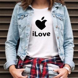 Frauenmode T-shirt - iLove