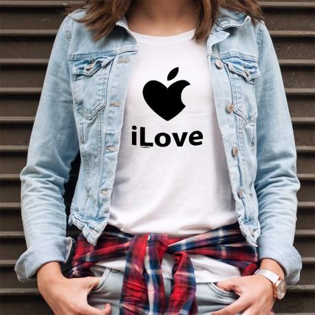 Donna moda T-shirt - iLove