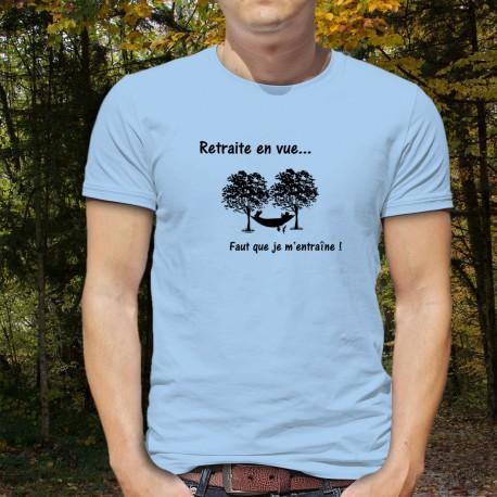 Men's Funny T-Shirt - Retraite en vue, Blizzard Blue