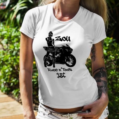 Women's fashion T-Shirt - Zou Race n'tools logo