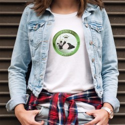 Damenmode T-shirt - Panda First