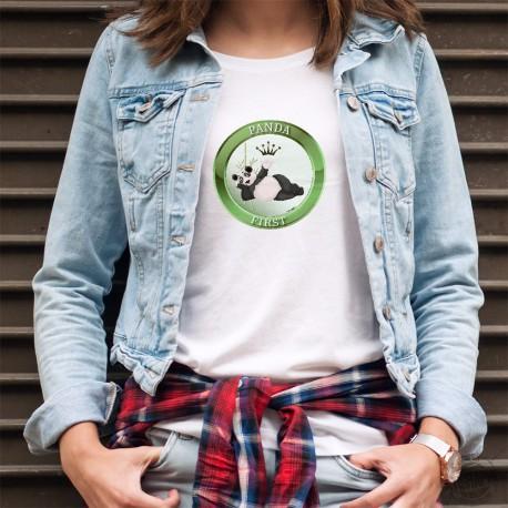 Damenmode T-shirt - Panda First